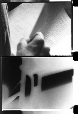 Two film stills from Fragment